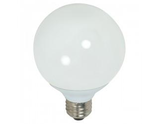 Satco S7306 - 15G25/50 - 15 Watt - 120 Volt - Compact Fluorescent - G25 - Medium (E26) - 5,000 Kelvin
