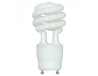 Satco S8205 - 18GU24/27 - 18 Watt - 120 Volt - Compact Fluorescent - T2 - Twist and Lock (GU24) - 2,700 Kelvin