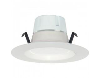 Satco S9117 - LED Retrofit Fixture - 8WLED/RDL/4/120V/DIM - 8 Watt - 120 Volt - Medium (E26) - Frosted White Finish - 3,000 Kelvin (Warm White)