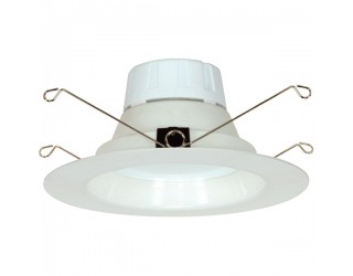 Satco S9119 - LED Retrofit Fixture - 15WLED/RDL/5-6/120V/DIM/G4 - 15 Watt - 120 Volt - Medium (E26) - Frosted White - 3,000 Kelvin