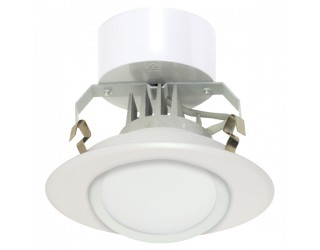 Satco S9120 - LED Recessed Downlight Retrofit Fixture - 10.4 Watt - 120 Volt - Medium (E26) - Frosted White Finish - 3,000 Kelvin (Warm White)
