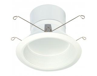 Satco S9122 - LED Recessed Downlight Retrofit Fixture - 11.6 Watt - 120 Volt - Medium (E26) - Frosted White - 3,000 Kelvin
