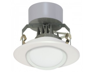 Satco S9123 - LED Recessed Downlight Retrofit Fixture - 8 Watt - 120 Volt - Medium (E26) - Frosted - 3,000 Kelvin