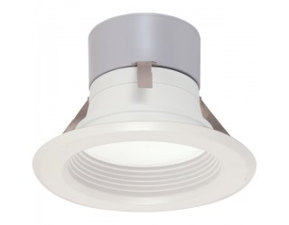 Satco S9124 - LED Recessed Retrofit Downlight Fixture - 8.5 Watt - 120 Volt - Medium (E26) - Frosted White - 3,000 Kelvin
