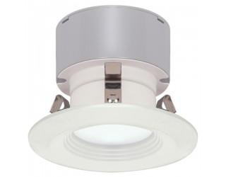 Satco S9128 - LED Recessed Retrofit Downlight - 7 Watt - 12 Volt - Mini Bi-Pin (GU5.3/GX5.3) - 3,000 Kelvin (Frosted White)