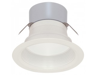Satco S9130 - LED Recessed Retrofit Downlight - 7 Watt - 12 Volt - Mini Bi-Pin (GU5.3/GX5.3) - 3,000 Kelvin (Frosted White)