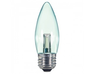 Satco S9154 - 1.4 Watt - 120 Volt - LED - B11 - Medium (E26) - Clear - 2,700 Kelvin
