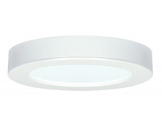 Satco S9193 - LED Retrofit Fixture - 13.5W/LED/7FLUSH/3K/DD - 13.5 Watt - 120 Volt - Direct Wired - 3,000 Kelvin (Frosted White)