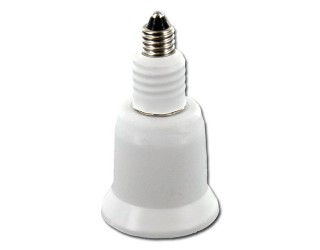 Satco 80-2360 - Mini Candelabra (E11) to Medium (E26) Light Bulb Socket Extender / Adapter