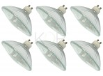(6 Pack) 75R111/GU10/FL - 75-Watt Halogen R111 Reflector - GU10 Base (Twist & Lock) - 75W Flood Light Bulb